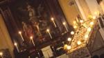 1L'interno della chiesa di San Girolamo e particoalre del fercolo dell'Assunta accanto l'altare